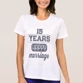 15 Years Happy Marriage T-Shirt