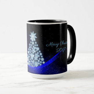 15oz Christmas Custom Blue Tree 238 By Zazz_it Mug