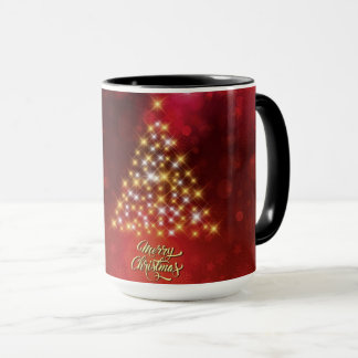 15oz Christmas Tree Red Custom By Zazz_it Mug