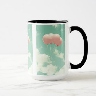 15oz Combo Coffee Mug Pink Balloons By Zazz_it
