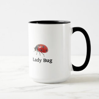 15oz Custom Coffee Mug Lady Bug 1 By Zazz_it