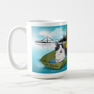 15oz Mug: Capt Oliver & the SS OASis (cat on boat) Coffee Mug