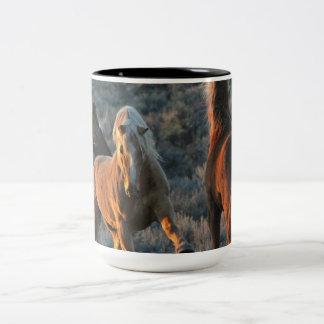 15oz of Pure-wild Mustang Energy in a Mug! Two-Tone Coffee Mug