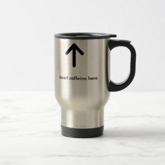 15oz Stainless steel Insert caffiene here mug