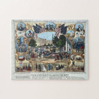 15th Amendment Abraham Lincoln Puzzle