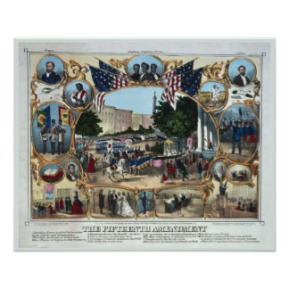 15th Amendment Print Abraham Lincoln
