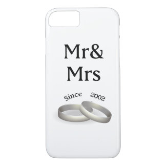 15th anniversary matching Mr. And Mrs. Since 2002 iPhone 8/7 Case