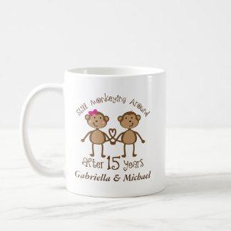 15th Anniversary Personalized 15 Year Mugs
