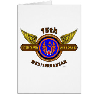 15TH ARMY AIR FORCE ARMY AIR CORPS WW II GREETING CARDS