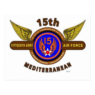 "15TH ARMY AIR FORCE ""ARMY AIR CORPS"" WW II POSTCARD"