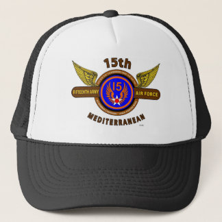 "15TH ARMY AIR FORCE ""ARMY AIR CORPS"" WW II TRUCKER HAT"