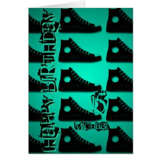 15th Birthday Custom Greeting Card with Footwear 1