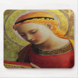 15th Century ANGEL with Bible Mousepad