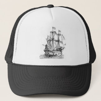 15th_century_galleon trucker hat