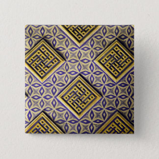 15th Century Protective Cool Vintage Pattern 2 Inch Square Button