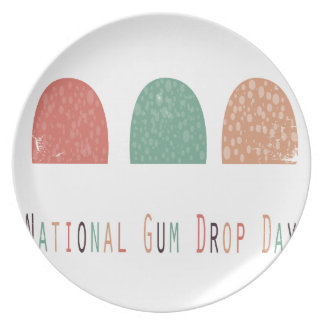 15th February - Gumdrop Day - Appreciation Day Dinner Plate