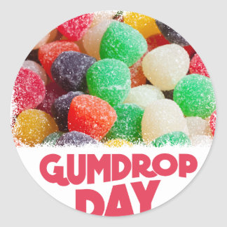15th February - Gumdrop Day Round Sticker