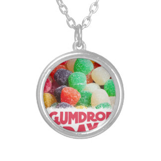 15th February - Gumdrop Day Silver Plated Necklace