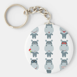 15th February - Hippo Day - Appreciation Day Keychain