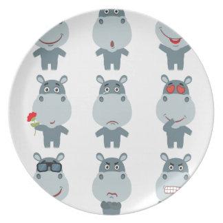 15th February - Hippo Day - Appreciation Day Plate
