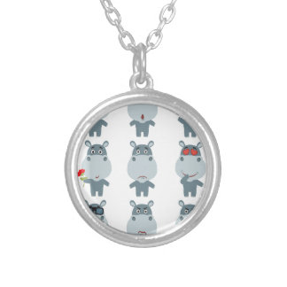 15th February - Hippo Day - Appreciation Day Silver Plated Necklace