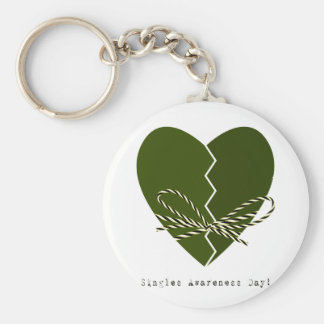 15th February - Singles Awareness Day Basic Round Button Keychain