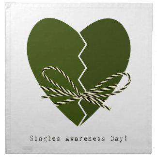 15th February - Singles Awareness Day Napkin