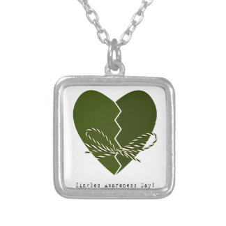 15th February - Singles Awareness Day Silver Plated Necklace