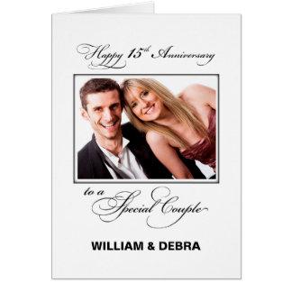 15th Wedding Anniversary Custom Name & Photo Card