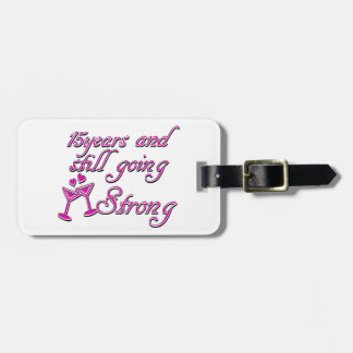 15th wedding anniversary tag for bags