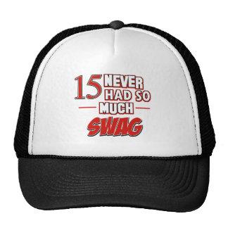 15th year anniversary trucker hats