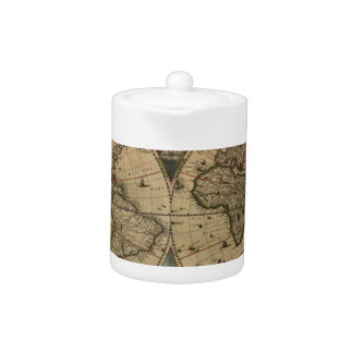 1600s original painted world map
