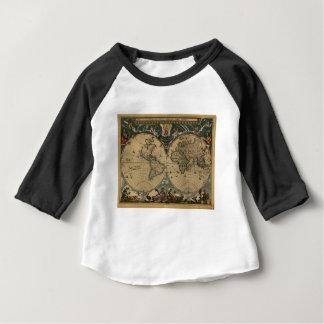 1600s original painted world map baby T-Shirt