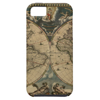 1600s original painted world map iPhone 5 case