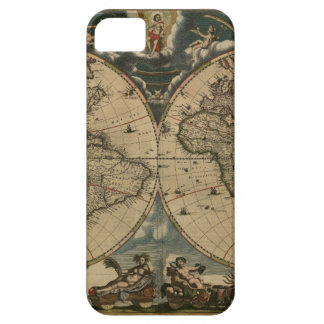 1600s original painted world map iPhone 5 covers