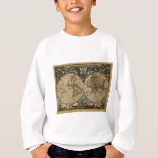 1600s original painted world map sweatshirt