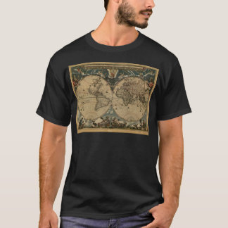 1600s original painted world map T-Shirt