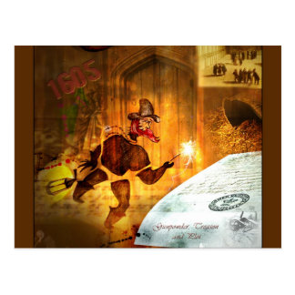 1605 - The Gunpowder Plot (detail) Postcard