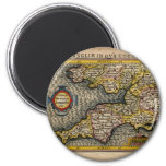 1610 Map of Cornwall, Devon, Somerset, etc... Magnets