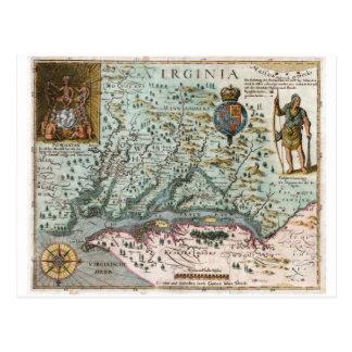 1627 Virginia Map Postcard