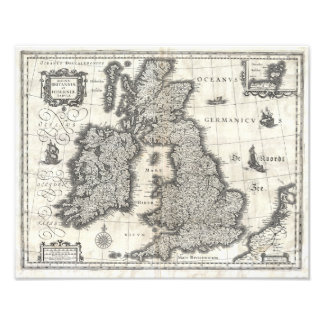 1631 Map of the British Isles by Joan Blaeu Photograph