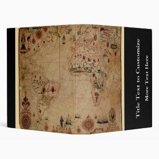 1633 Atantic Ocean Portolan Chart - Pascoal Roiz Vinyl Binder