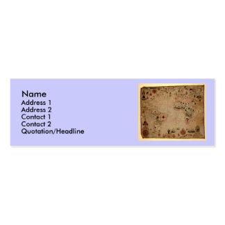 1633 Atantic Ocean Portolan Chart - Pascoal Roiz Business Card Template