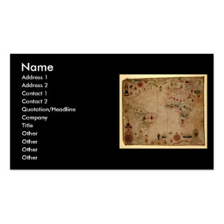 1633 Atantic Ocean Portolan Chart - Pascoal Roiz Business Card
