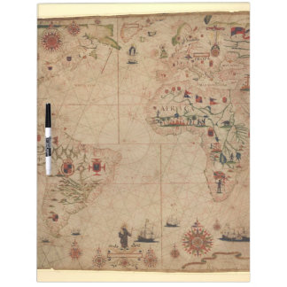 1633 Atantic Ocean Portolan Chart - Pascoal Roiz Dry Erase Boards