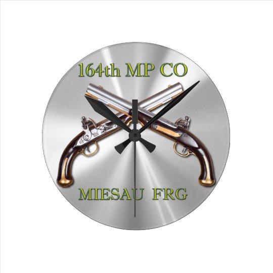 164th MP Company Badge and Crossed Pistols Clocks