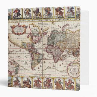 1652 Map of the World, Doncker Sea Atlas World Map Binder