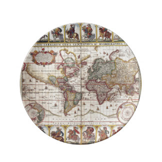 1652 Map of the World, Doncker Sea Atlas World Map Plate