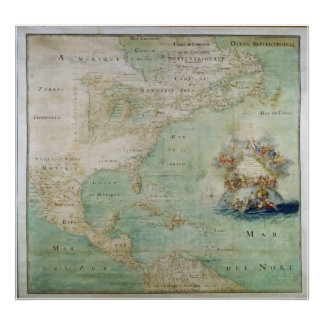 1681 View of North America Poster