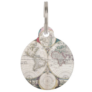 1685 Bormeester Map of the World Pet Tag
